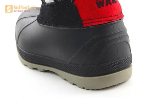 Зимние сапоги для мальчиков непромокаемые с резиновой галошей Звездные войны (Star Wars), цвет черный, Water Resistant. Изображение 13 из 16.