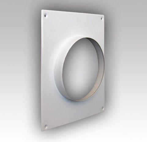 125ПТМ Торцовая площадка стальная 175х236/ф125 без решетки, с полимерным покрытием эмалью