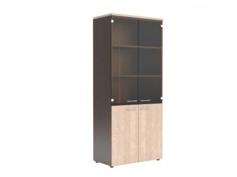 XHC 85.2 Шкаф комбинированный со стекло-дверями (850х410х1930)