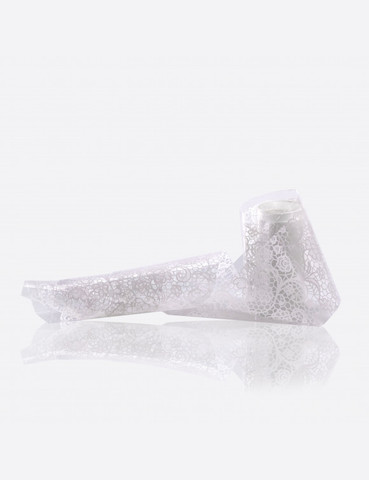 Фольга переводная белый узор 1м х 4см 035