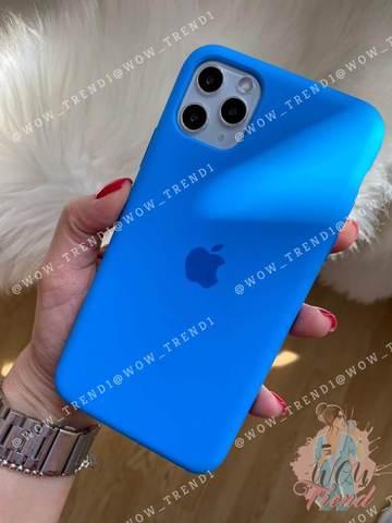 Чехол iPhone 11 Pro Max Silicone Case /surf blue/ синяя волна original quality