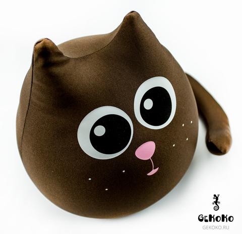 Подушка-игрушка антистресс «Кот шоколадный большой» 3