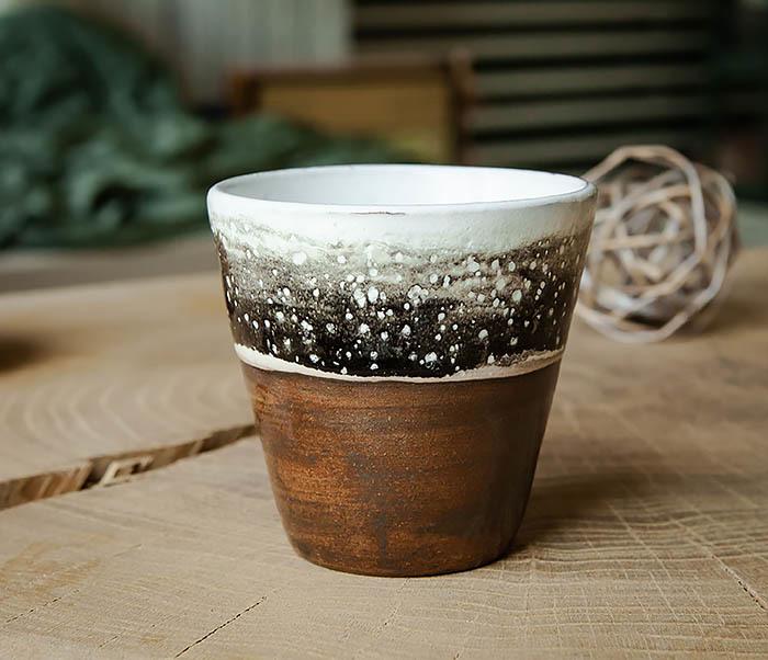 CUP108-2 Красивый стакан ручной работы, серия «Млечный Путь»