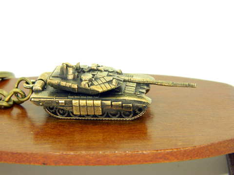 Miniature Russian battle tank T90
