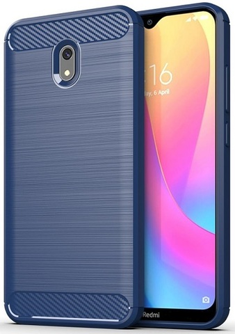 Чехол Xiaomi Redmi 8A цвет Blue (синий), серия Carbon, Caseport