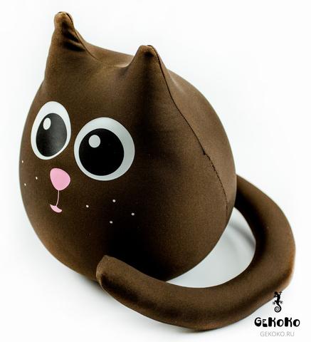 Подушка-игрушка антистресс «Кот шоколадный большой» 4