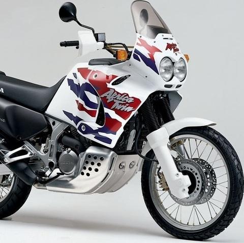 Набор наклеек Honda XRV 750V Africa Twin '96-1999 (пластик бело/черный)