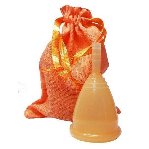 Менструальная чаша CupLee S, Оранжевая