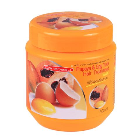 Маска для волос Carebeau на основе папайи и протеинов яичного желтка. Carebeau. 500 мл.