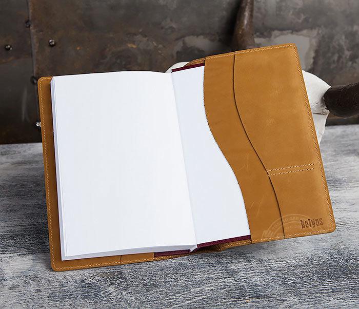 BY05-15-03 Недатированный кожаный ежедневник с медведем (А5) фото 06