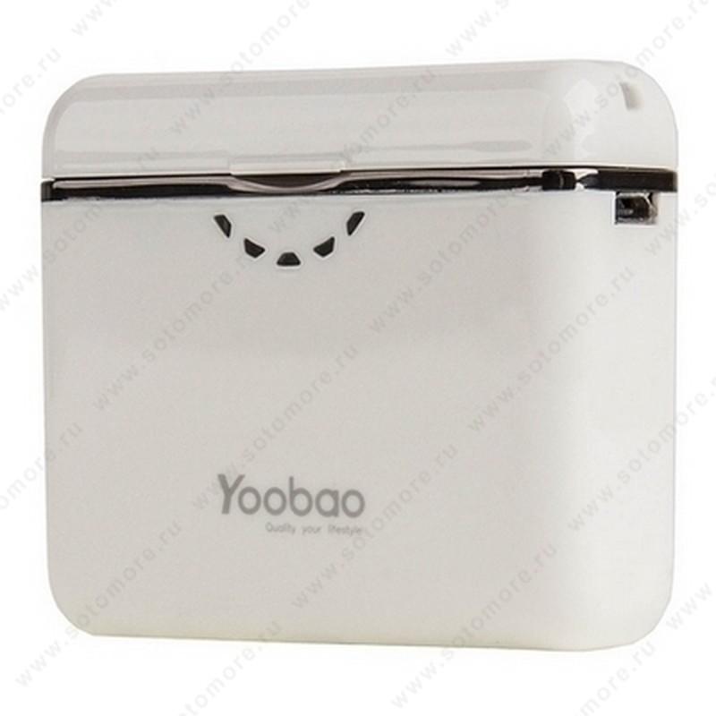 Аккумулятор внешний универсальный Yoobao YB-625 3400 мАч White