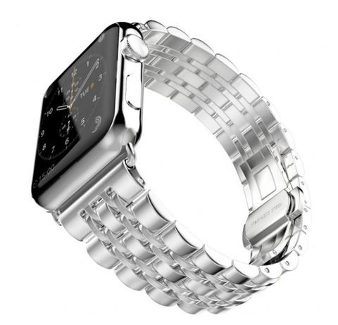 Металлический ремешок Metall 7-Bead 42мм\ 44мм для Apple Watch (Серебристый)