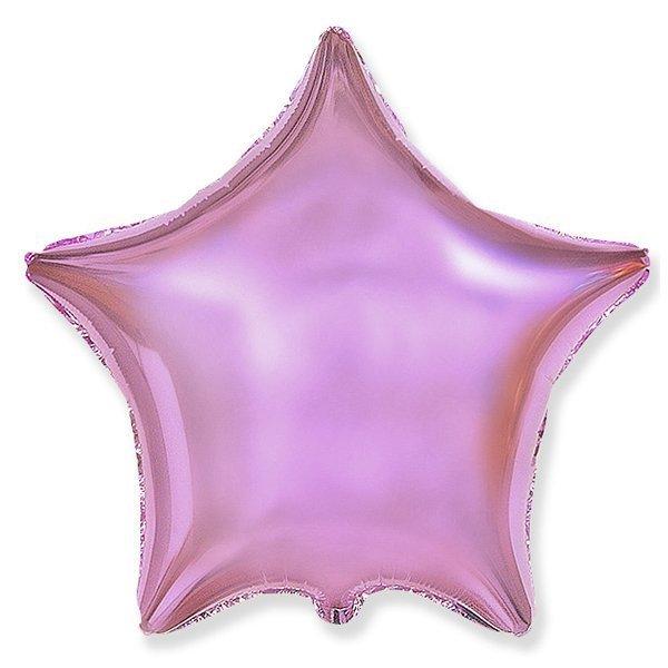 Фольгированный шар Звезда Розовый 18