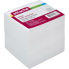 Блок для записей Attache 90x90x90 мм белый (плотность 100 г/кв.м)
