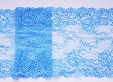 Эластичное кружево, голубой, 19 см, м