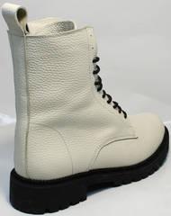 Женские ботинки под берцы зимние Ari Andano 740 Milk Black.