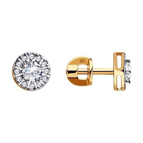028255 - Серьги из золота с фианитами