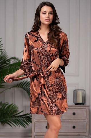 Короткий халат рубашка Mia Amore 8667 (70% натуральный шелк)