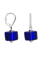 Серьги Perla Piccolo Cubo цвет синий