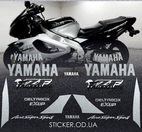 Набор виниловых наклеек на мотоцикл YAMAHA YZF 1000R 1996
