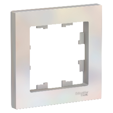 Рамка на 1 пост. Цвет Жемчуг. Schneider Electric AtlasDesign. ATN000401