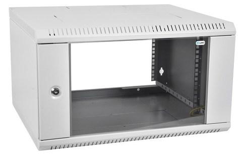 Шкаф ЦМО ШРН-Э-6.350 телекоммуникационный настенный разборный 6U (600 × 350) дверь стекло