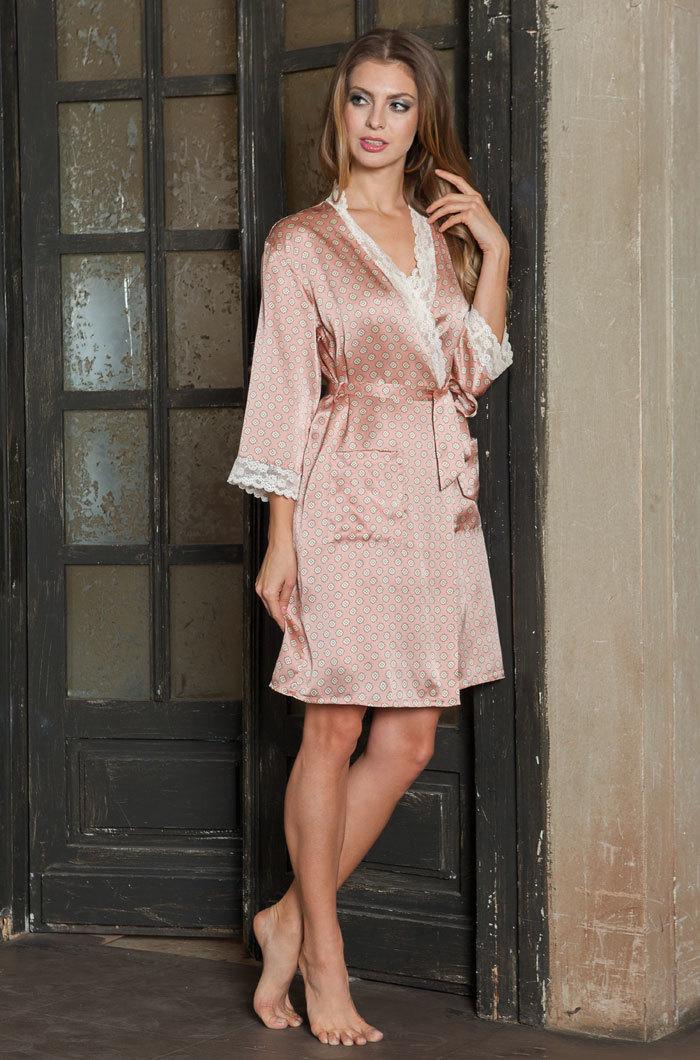 Шелковые халаты Халат женский натуральный шелк MIA-MIA   Agata АГАТА  15123 15123_big.jpg