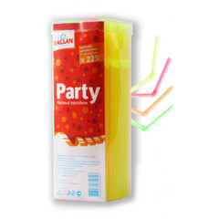 Трубочки для коктейля Paclan с изгибом в ассортименте длина 21 см 225 штук в упаковке