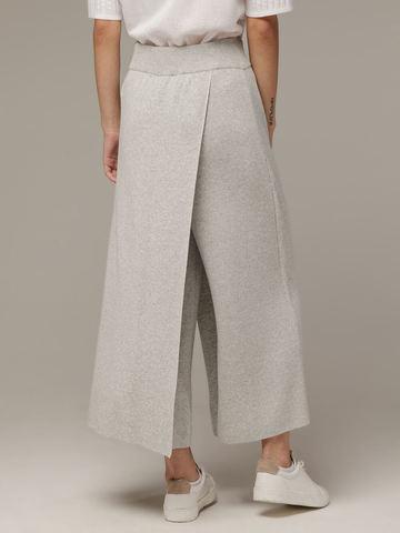 Женские серые свободные брюки из вискозы - фото 4