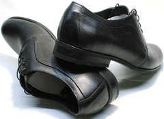 Красивые мужские туфли на шнурках Ikoc 060-1 ClassicBlack.
