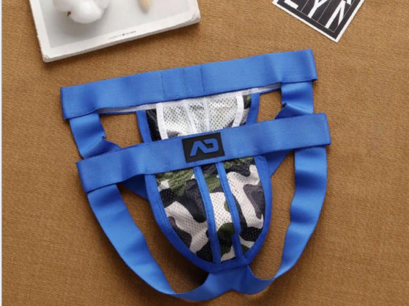 Мужские трусы джоки камуфляжные с синей резинкой Addicted AD5-M287