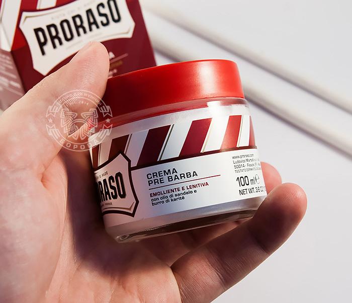RAZ400122 Крем до бритья «Proraso» pre shave с сандалом и маслом ши (100мл) фото 05