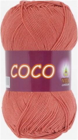 Пряжа Coco (Vita cotton) 4328 Дымчато-розовый коралл