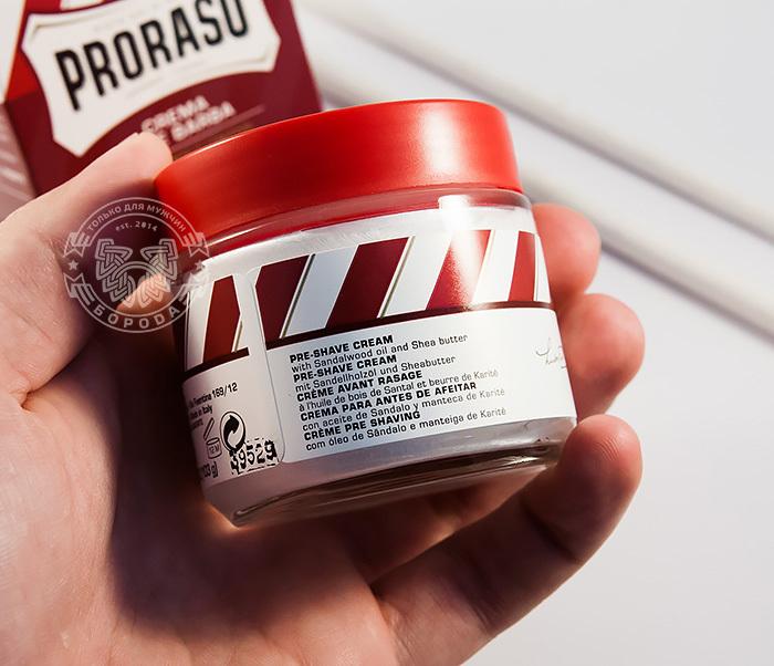 RAZ400122 Крем до бритья «Proraso» pre shave с сандалом и маслом ши (100мл) фото 06
