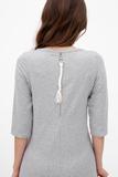 Платье для беременных 09171 серый меланж