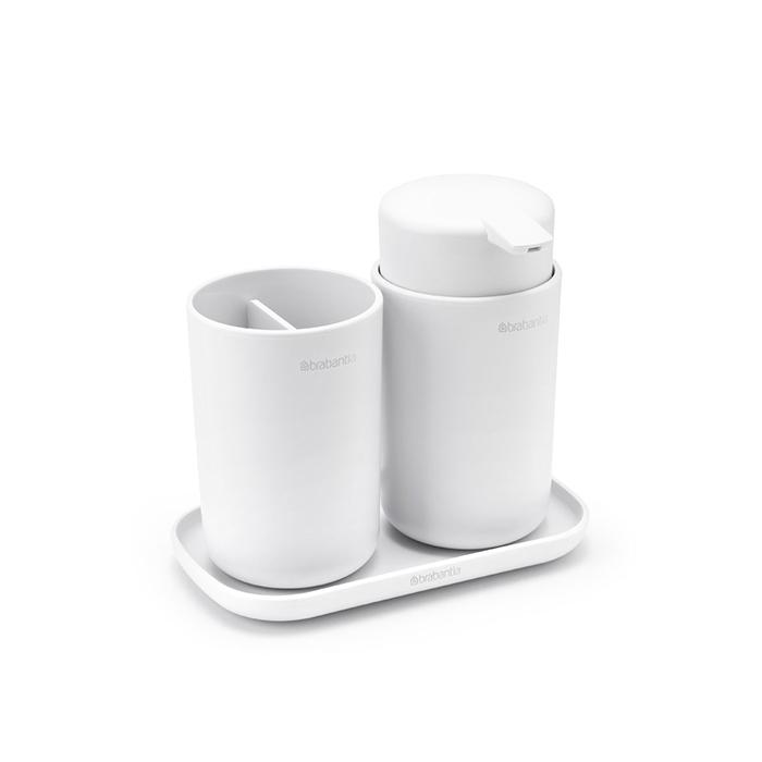 Набор аксессуаров для ванной комнаты ReNew, 3 пр., Белый, арт. 280382 - фото 1