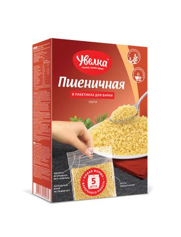 """Крупа """"Увелка"""" пшеничная 5×80г"""