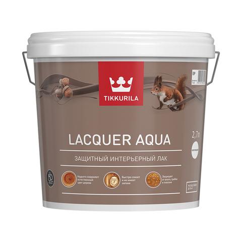 Tikkurila Laquer Aqua /  Тиккурила Лак Аква водоразбавляемый колеруемый лак, матовый