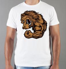 Футболка с принтом Медведь, Медвежонок (Bear) белая 007