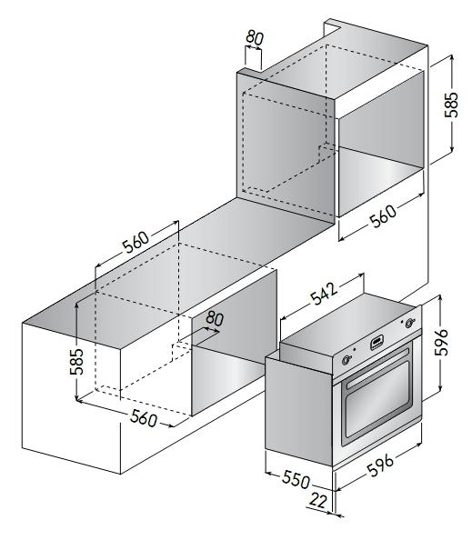 Электрический независимый духовой шкаф ILVE 600 RMP IX
