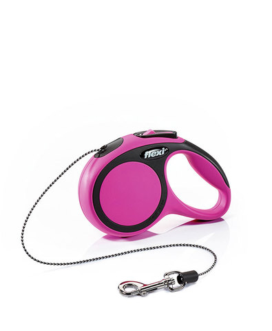 Flexi поводок-рулетка New Comfort М (до 20 кг) трос 5 м (черный/розовый)