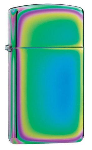 Зажигалка Zippo Slim Spectrum, латунь/сталь, разноцветная, глянцевая, 30x10x55 мм123