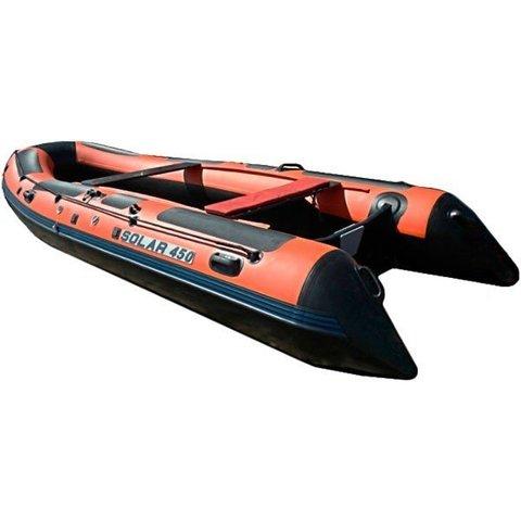 Надувная ПВХ-лодка Солар - 450 Jet Tunnel (оранжевый)