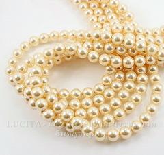 5810 Хрустальный жемчуг Сваровски Crystal Light Gold круглый 6 мм, 5 шт