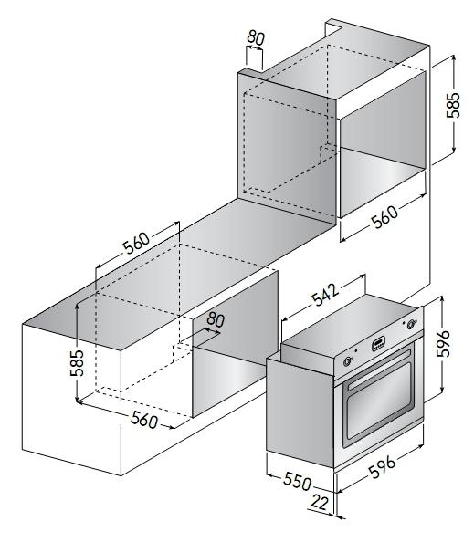 Электрический независимый духовой шкаф ILVE 600 RMP M графит