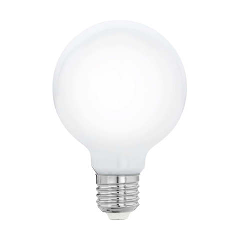 Лампа  LED филаментная диммируемая из опалового стекла Eglo MILKY LM-LED-E27 7W 806Lm 2700K G80 11769
