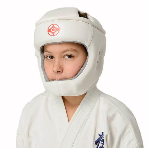 Шлем с закрытым подбородком киокушинкай