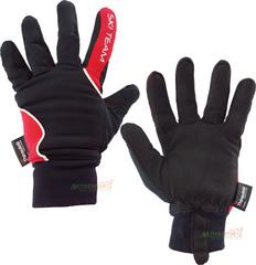 Лыжные перчатки Ski Team K18004B черно/красные