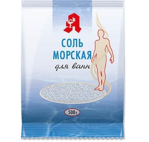 Соль для ванн калий + магний Аптечный союз 500 г.