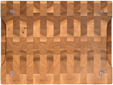 деревянная торцевая разделочная доска 40x30x4 см. карагач (вяз)